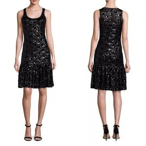 Michael Kors Size S Sequined Lace Mesh Dress